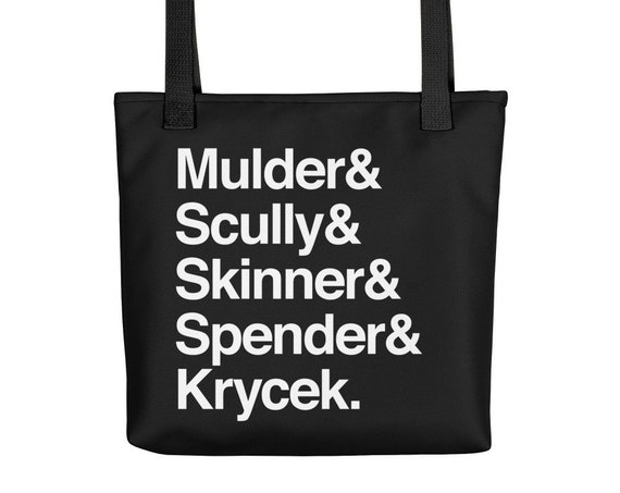 The X-Files in Helvetica - Mulder Scully Skinner Spender Krycek Tote