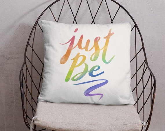 Just Be - Throw Pillow