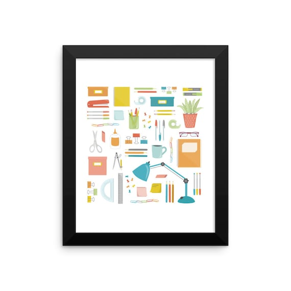 Portrait of a Desk Framed Poster