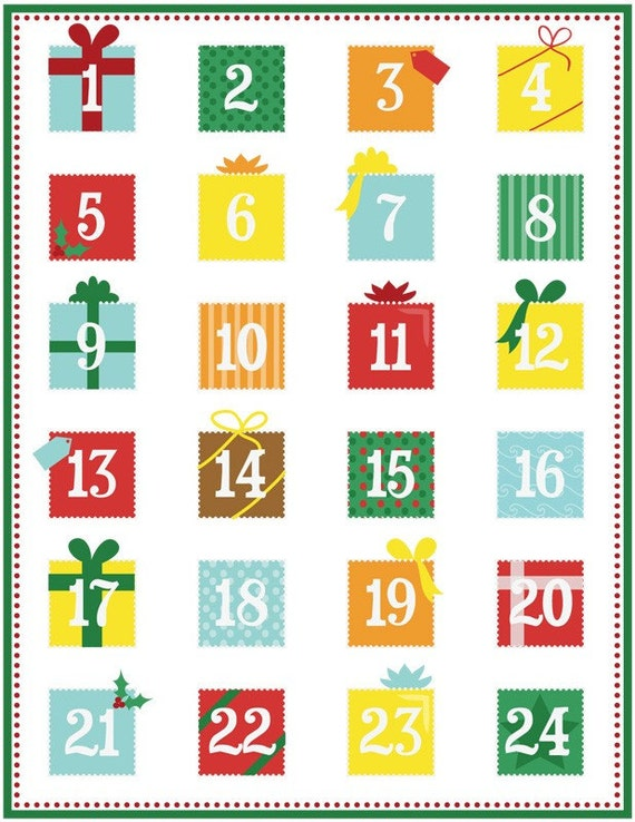 photograph regarding Printable Advent Calendar identify Printable arrival calendar PDF