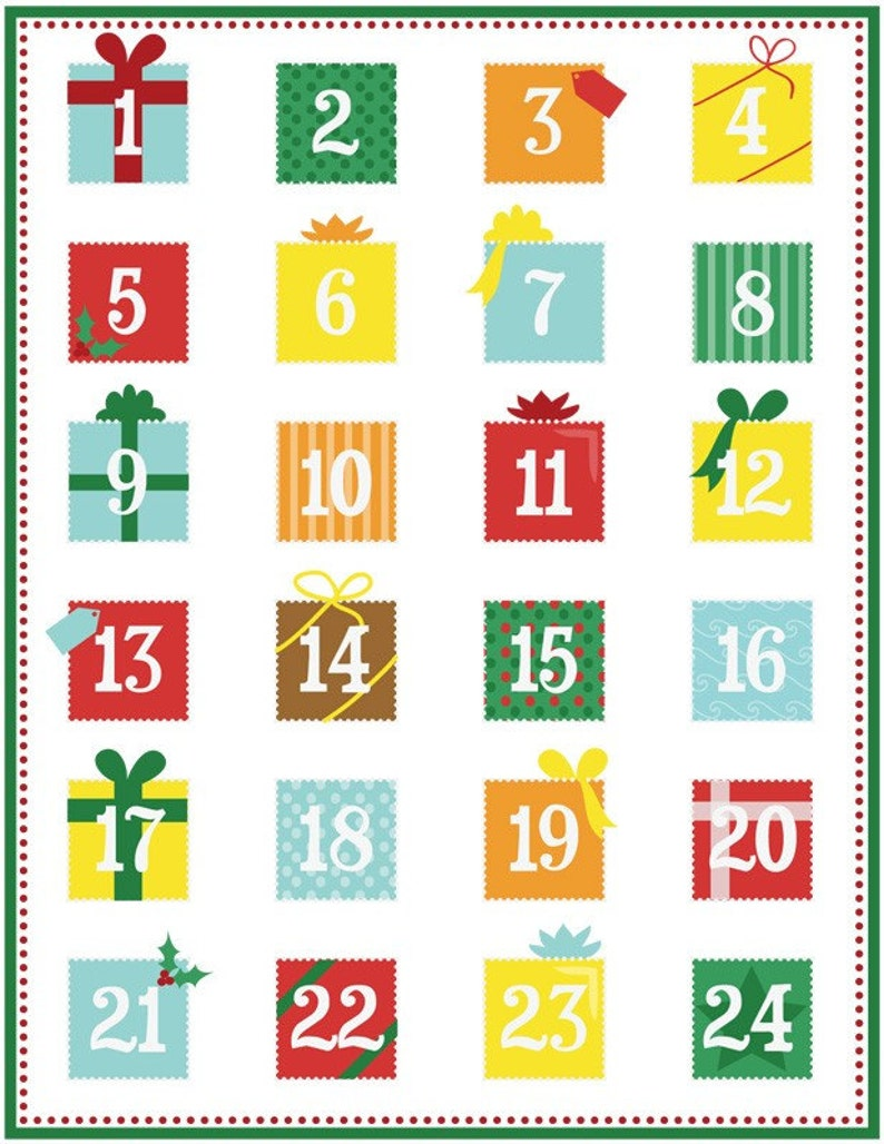picture about Printable Christmas Calendar referred to as Printable arrival calendar PDF