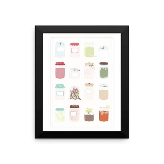Mason Jars Framed Poster