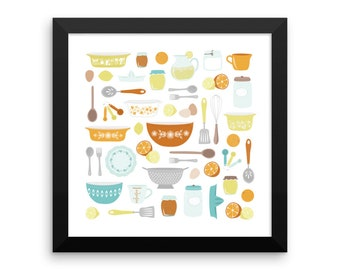 Citrus Kitchen Framed Poster
