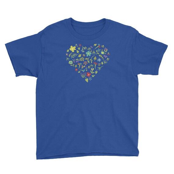 Floral Heart Kids T-Shirt
