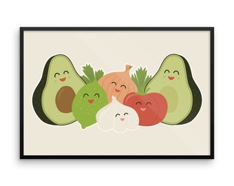 Guac & Roll Framed poster