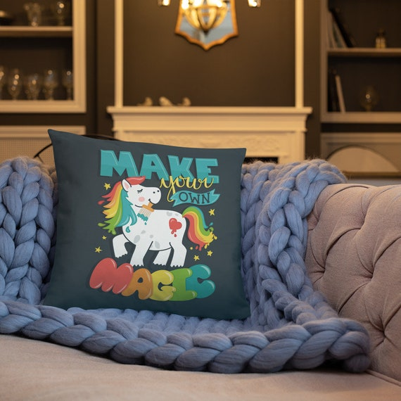 Make Your Own Magic - Throw Pillow