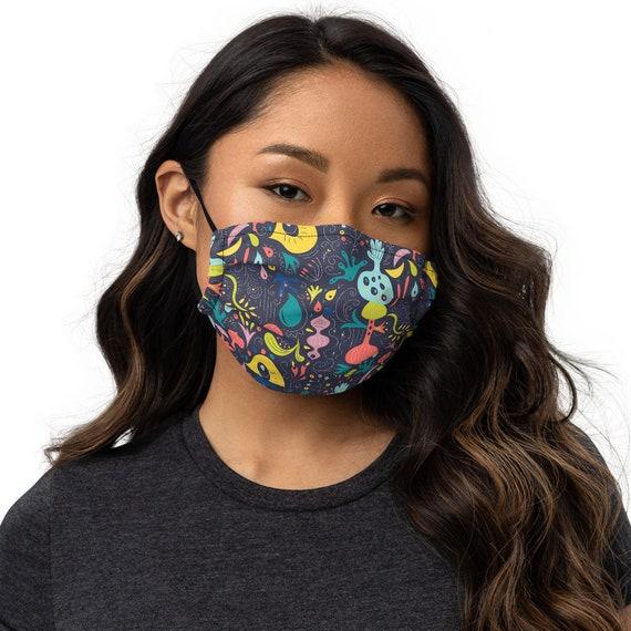Fluorescent Garden - Face mask