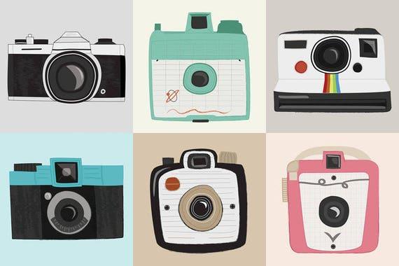 vintage cameras - set of 6