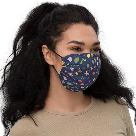 Dark floral - Face mask