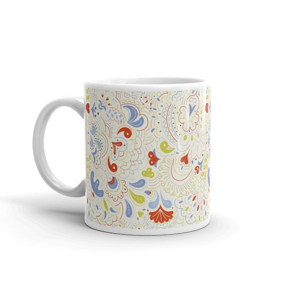 Foliage in Cream Mug
