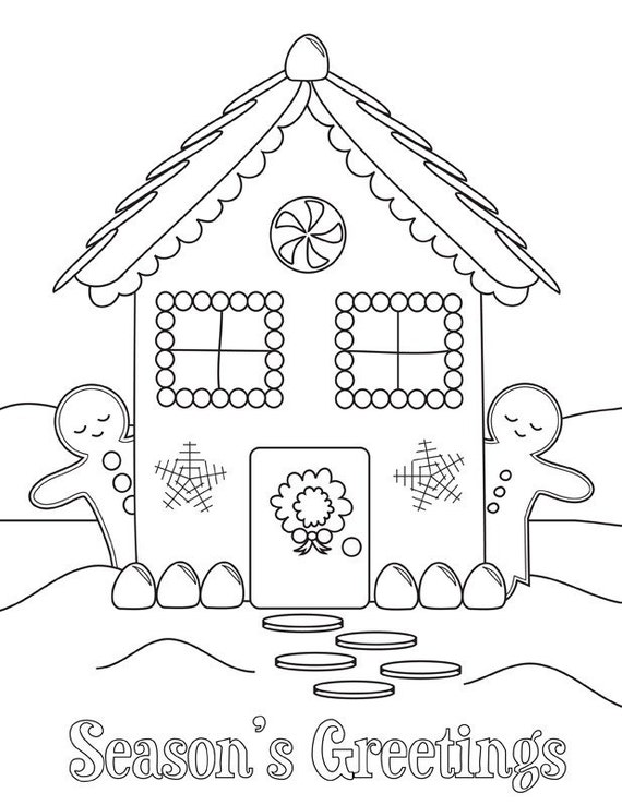 Printable Holiday Coloring Sheets Etsy