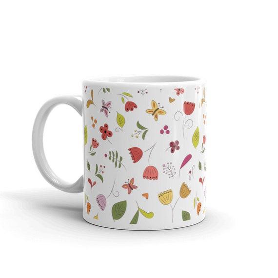Funky Floral Mug