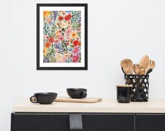 Garden Botanical - Framed watercolor print
