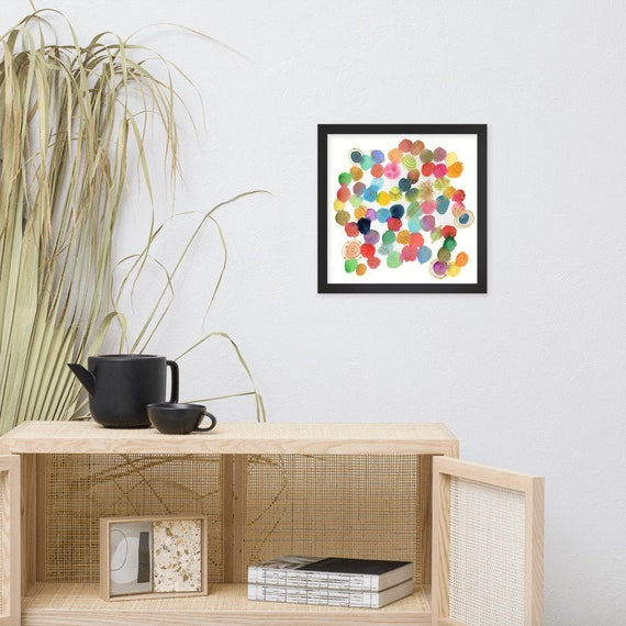 Wild Planets - Framed watercolor print