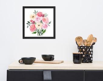Watercolor Bouquet - Framed watercolor print