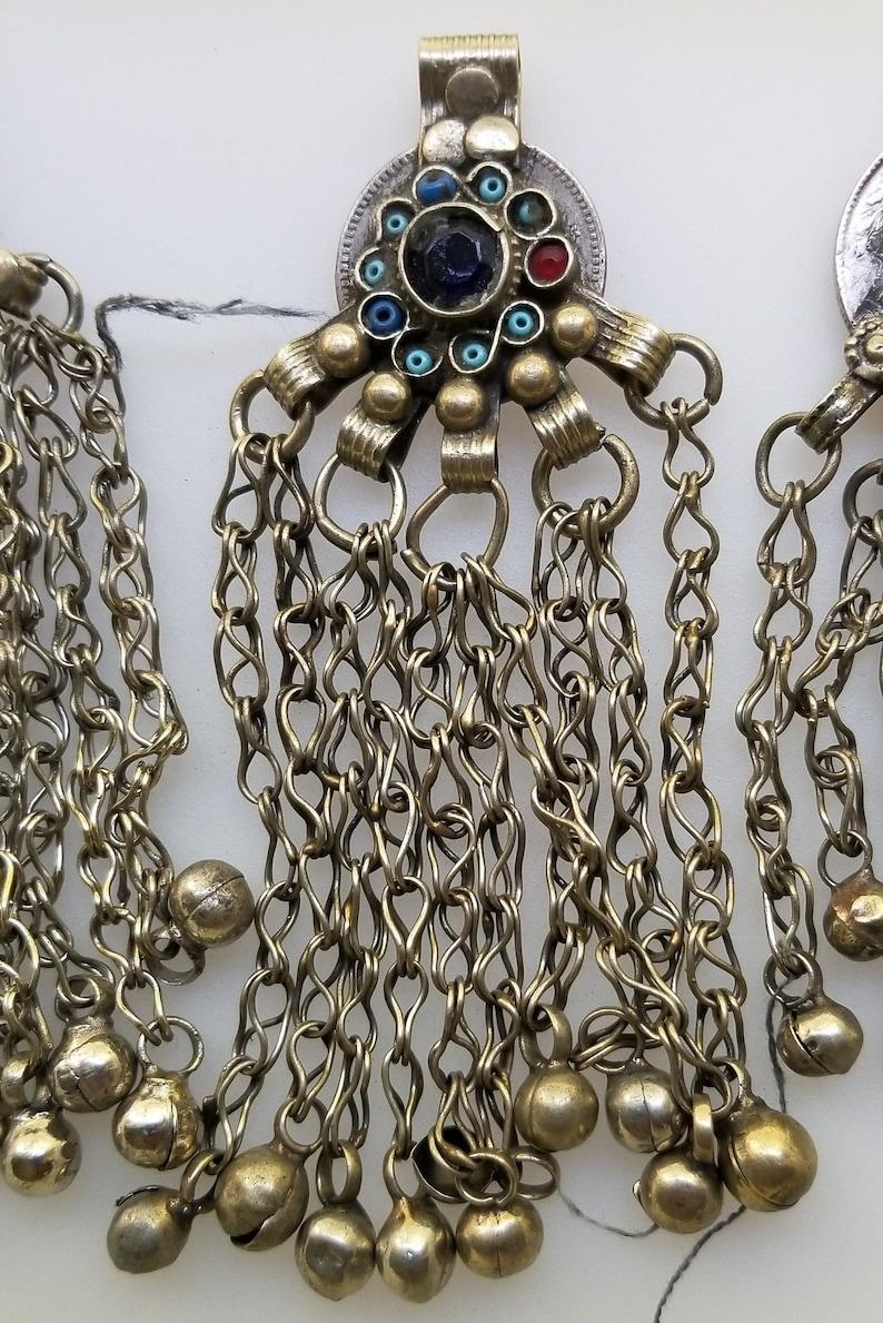 Kuchi jewelry tribal jewelry belly dancing jewelry CLEARANCE THREE Afghan Kuchi pendants