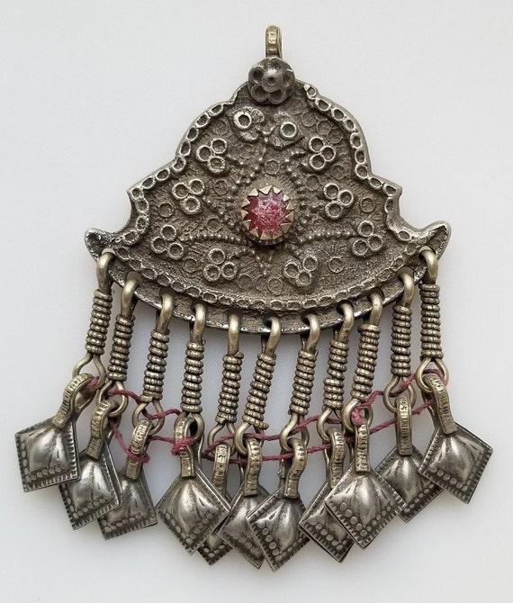 belly dancing vintage pendant tribal pendant Vintage kuchi pendant SMALL Afghan pendant