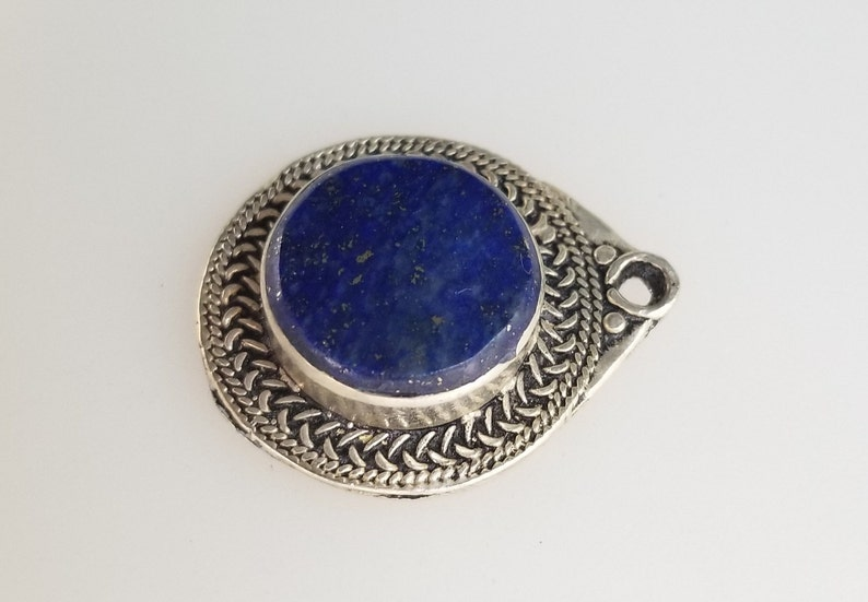 kuchi pendant lapis pendant Afghan Lapis pendant tribal pendant silver pendant handmade pendant belly dancing