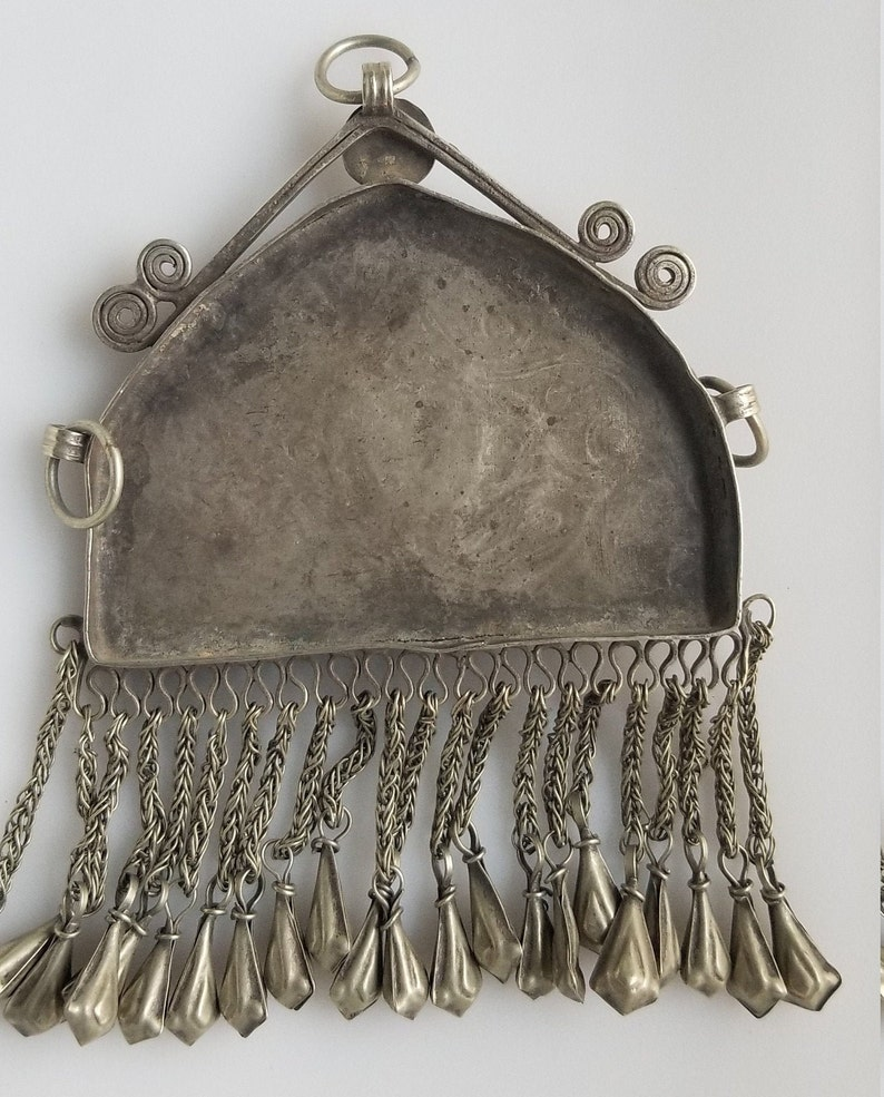 Large Afghan pendant vintage pendant Kashmiri pendant Vintage kuchi pendant tribal pendant belly dancing