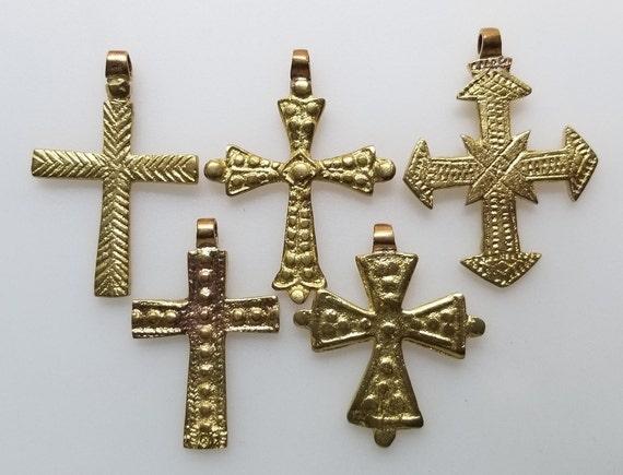 brass pendant Ethiopian Coptic Cross Ethiopian jewelry brass cross cross pendant African pendant