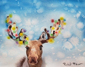 NEW Diamond Painting Kit Winter Wolves Attack Moose 5D DIY My Diamond Art