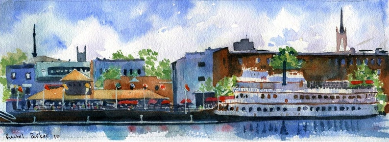Wilmington North Carolina Art Print Travel from a Painting image 1