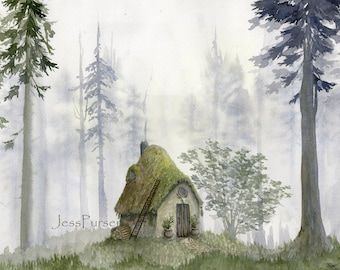 The Witch's Cottage - 8 x 11 print