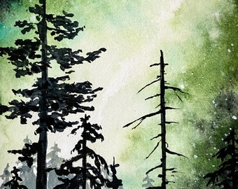 Forest landscape - original painting - 'A Path Across The Forest'