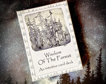 Deluxe SILVER GILT deck - The Wisdom Of The Forest - An intuitive card deck - meditation - yoga - oracle cards - wellness - mental health