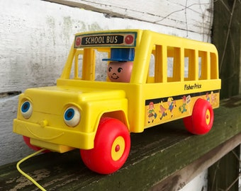 Fisher Price Little People School Bus Vintage 1984