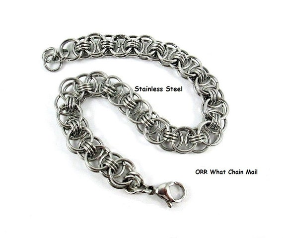 Stainless Steel Lace Women s Jewelry Chain Mail Bracelet  797777bcb