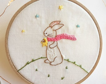 Reach for the Stars - Bunny Hand Embroidery PDF Pattern