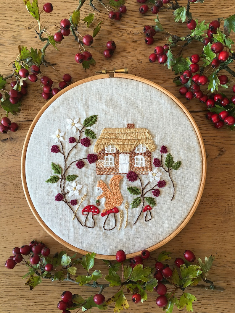 Cottage Home Embroidery Kit  Bramble Cottage image 0
