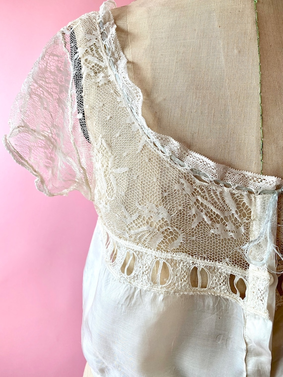 Antique Lace and Silk Camisole Top - image 2