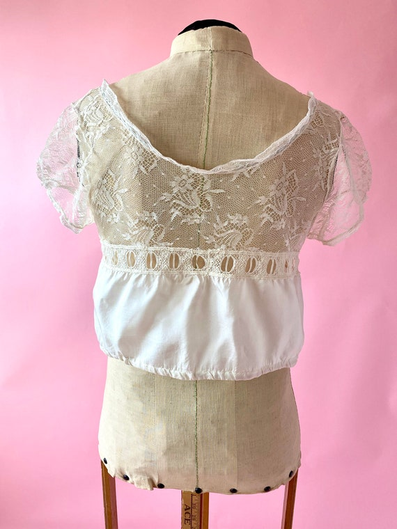 Antique Lace and Silk Camisole Top - image 5