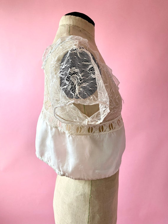 Antique Lace and Silk Camisole Top - image 6