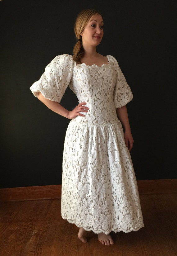 Vintage Victor Costa Lace Dress