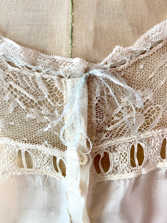 Antique Lace and Silk Camisole Top - image 3