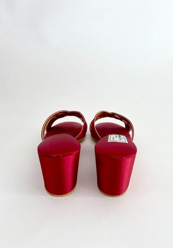 Vintage Red Slippers / Vintage House Slippers / D… - image 3