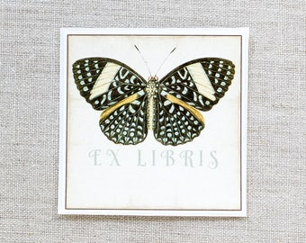 butterfly bookplates - custom book plates - ex libris - personalized bookplate stickers - book labels - gift for book lovers - gift under 20