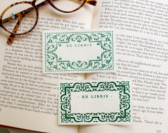 ivy book plates - greenery bookplates - Ex Libris - bookplate stickers - personalized gift for graduate - custom book labels - set of 10