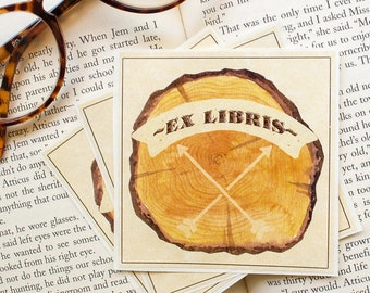Ex Libris Bookplate Stickers - Paper Anniversary Gift for Husband - personalized book plates - bookish labels - book lovers