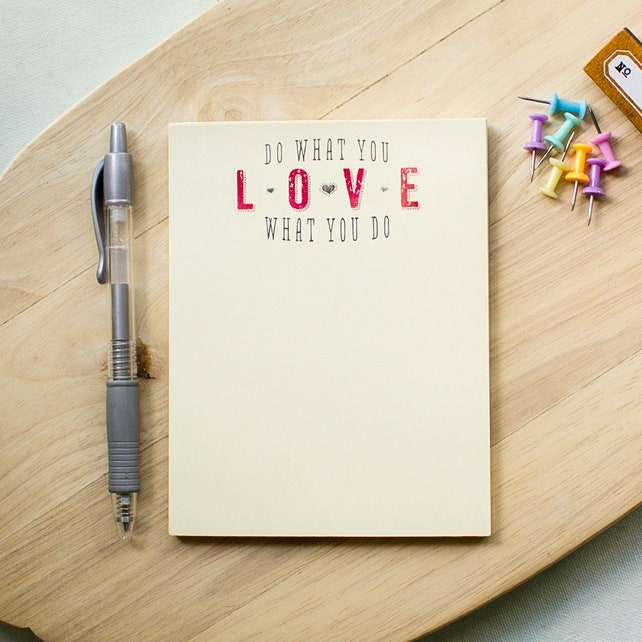personalized notepad - do what you love, love what you do - teacher note pad - to do list notepad - name note pad - custom notepads