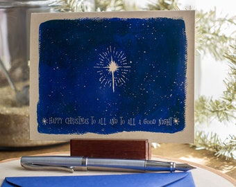 Christmas Cards Boxed Set, celestial galaxy greeting cards for stargazers, Happy Christmas