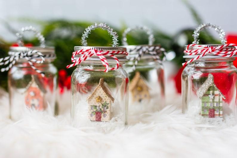 Mason Jar Christmas Ornament Miniature Farmhouse Christmas Decor