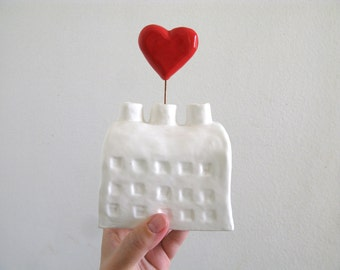 Large Heart Factory - Ceramic Sculpture - Sideways Hearts