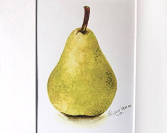 Pear Print Matted
