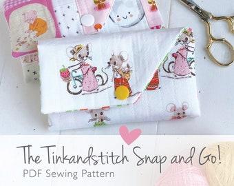 Tinkandstitch Snap and Go digital PDF sewing pattern, sewing kit organizer