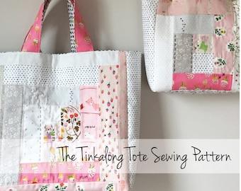 Tinkalong Tote digital PDF sewing pattern