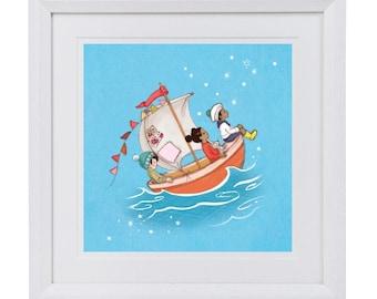 Sail Boat Dreams Art Print